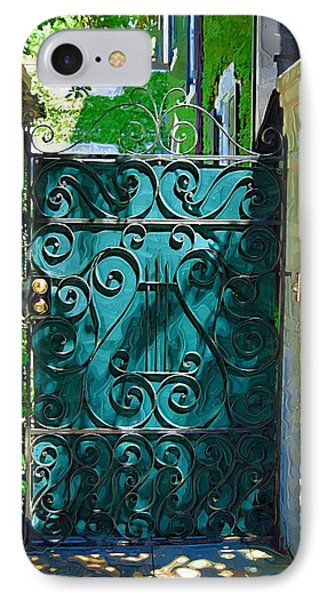 Green Gate IPhone Case by Donna Bentley