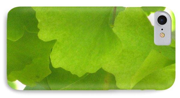 Green Ginkgo IPhone Case