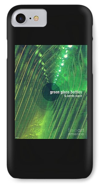 IPhone Case featuring the photograph Green Glass Bottles by Phil Perkins