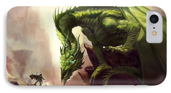 Green God Dragon Phone Case by Anthony Christou