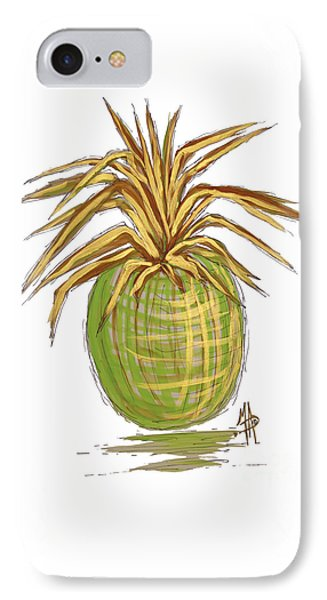 Green Gold Pineapple Painting Illustration Aroon Melane 2015 Collection By Madart IPhone 7 Case
