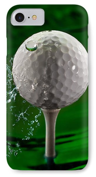 Green Golf Ball Splash Phone Case by Steve Gadomski