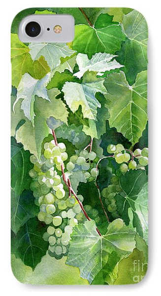 Green Grapes And Leaves IPhone Case by Sharon Freeman