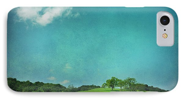 Green Grass Blue Sky Phone Case by Laurie Search