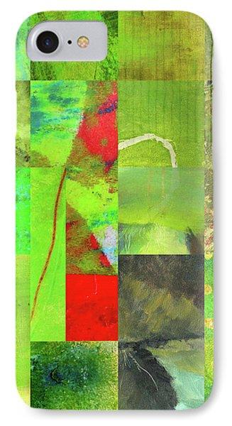 IPhone Case featuring the digital art Green Grid by Nancy Merkle