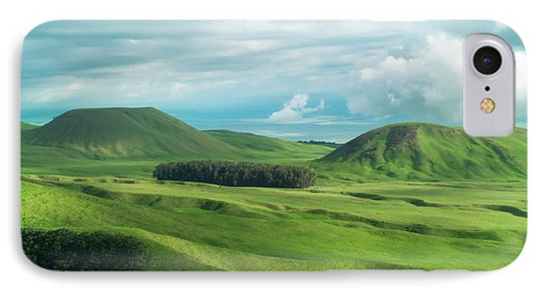 Helicopter iPhone 7 Case - Green Hills On The Big Island Of Hawaii by Larry Marshall