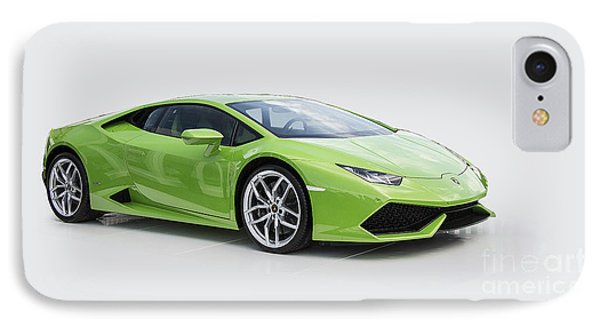 Green Huracan IPhone Case by Roger Lighterness