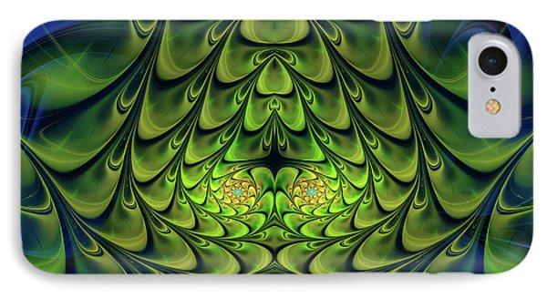 IPhone Case featuring the digital art Green Island by Jutta Maria Pusl