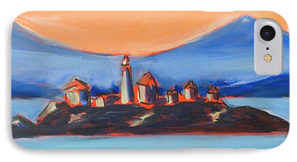 IPhone Case featuring the painting Green Island Lighthouse by Yulia Kazansky