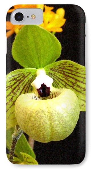 IPhone Case featuring the photograph Green Ladyslipper Orchid by Alfred Ng