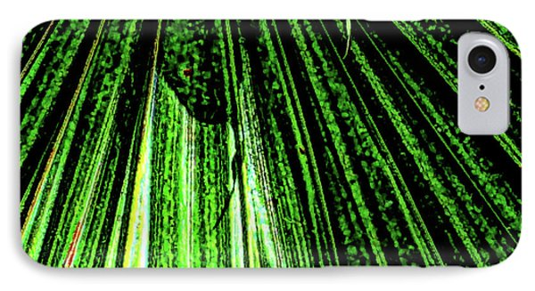 Green Leaf Forest Photo IPhone Case by Gina O'Brien