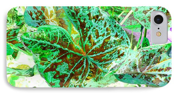 Green Leafmania 1 Phone Case by Marianne Dow
