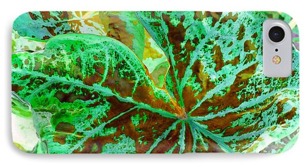 Green Leafmania 2 Phone Case by Marianne Dow