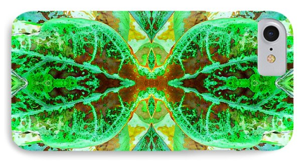 Green Leafmania 3 Phone Case by Marianne Dow