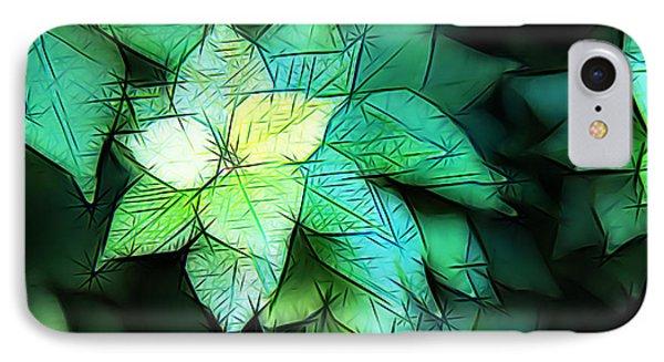 Green Leaves IPhone Case by Carol Crisafi