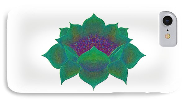 IPhone Case featuring the digital art Green Lotus by Elizabeth Lock