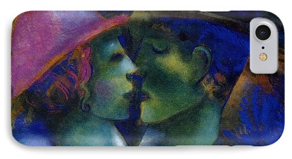 Green Lovers IPhone Case by Marc Chagall
