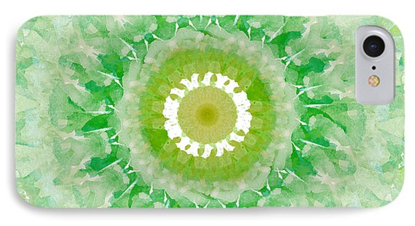 Green Mandala- Abstract Art By Linda Woods IPhone Case by Linda Woods
