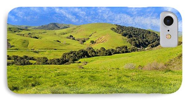 Green Meadow Santa Ynez Valley Ca Phone Case by Eyal Nahmias