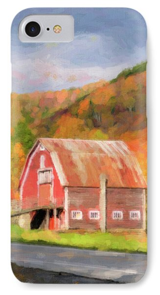 Green Mountains Barn Phone Case by Betty LaRue
