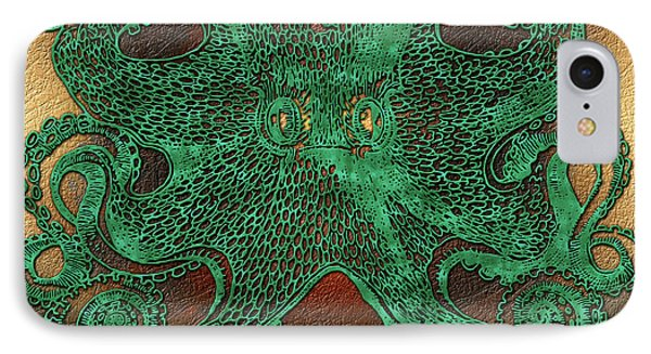 Green Octopus IPhone Case