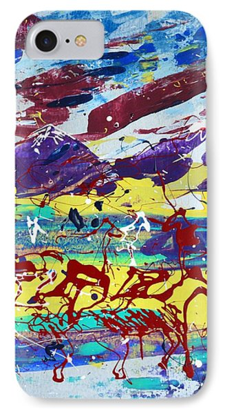 Green Pastures And Purple Mountains IPhone Case