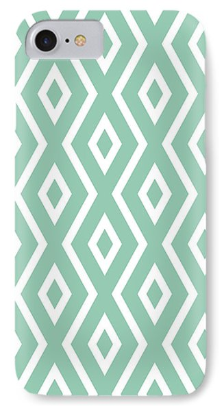 Repeat iPhone 7 Case - Green Pattern by Christina Rollo