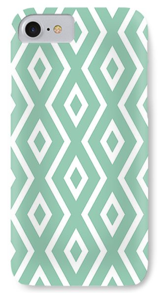 Green Pattern IPhone Case by Christina Rollo
