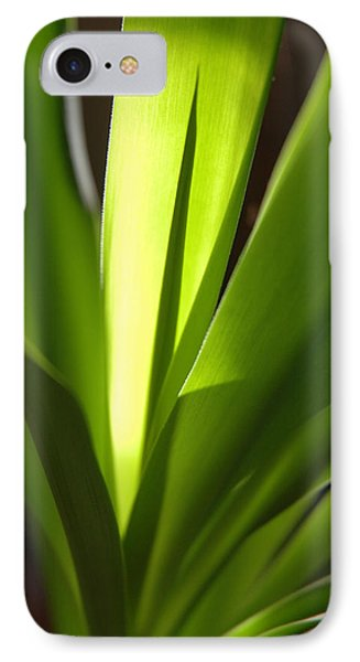 Green Patterns Phone Case by Jerry McElroy