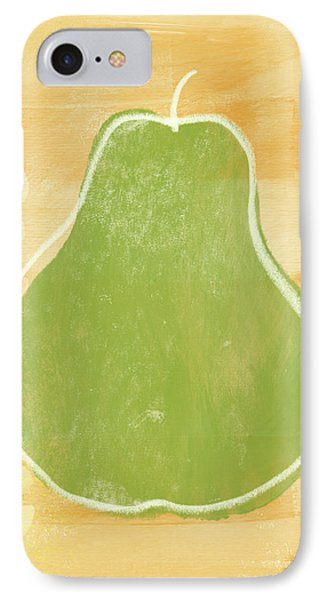 Green Pear 2- Art By Linda Woods IPhone Case