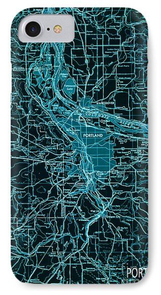 Green Portland Vintage Map IPhone Case