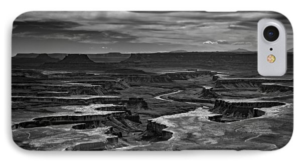 Green River In Black And White IPhone Case by Rick Berk