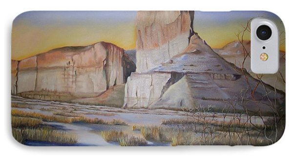 IPhone Case featuring the painting Green River Wyoming by Marlene Book