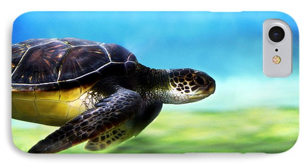 Green Sea Turtle 2 Phone Case by Marilyn Hunt