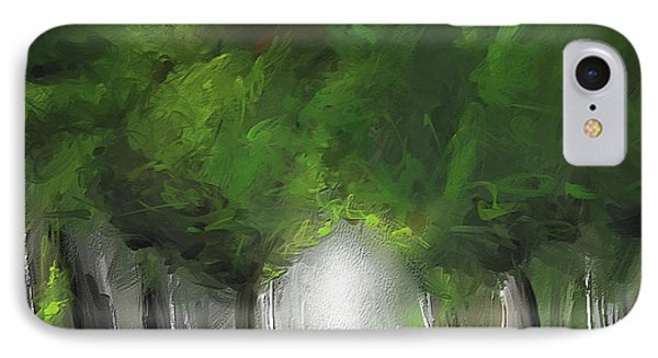 Green Serenity - Green Abstract Art IPhone Case