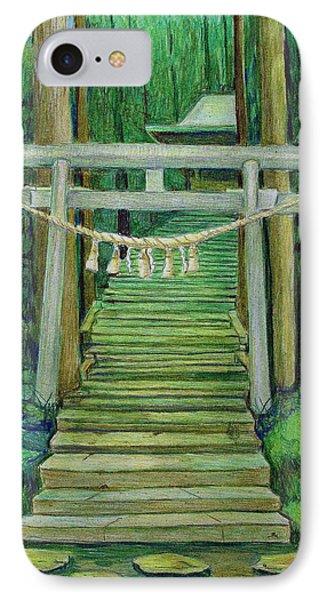 Green Stairway IPhone Case by Tim Ernst