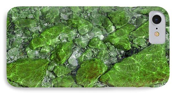 IPhone Case featuring the photograph Green Stone Waters by LeeAnn McLaneGoetz McLaneGoetzStudioLLCcom