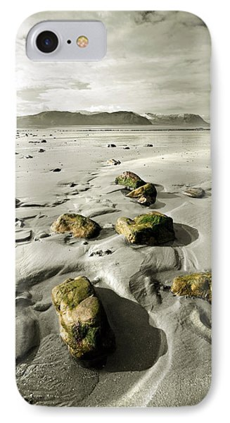 Green Stones On A North Wales Beach Phone Case by Mal Bray
