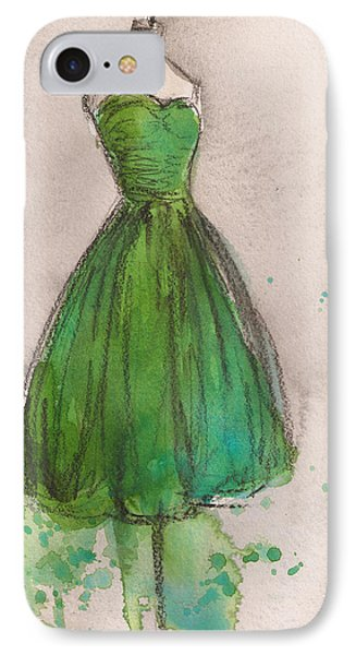 Green Strapless Dress Phone Case by Lauren Maurer