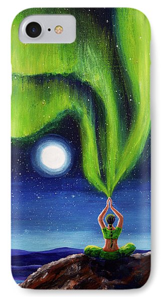 Green Tara Creating The Aurora Borealis IPhone Case by Laura Iverson
