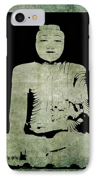 IPhone Case featuring the painting Green Tranquil Buddha by Kandy Hurley