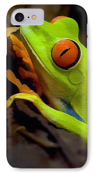 Green Tree Frog IPhone Case by Sharon Foster