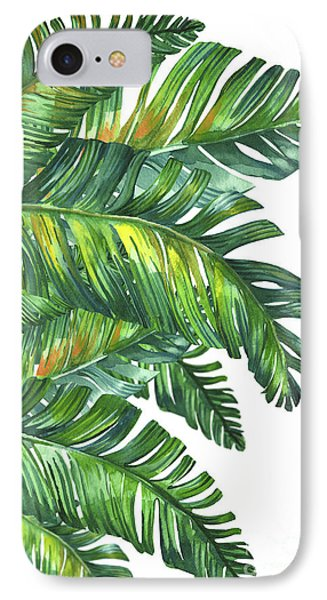 Flowers iPhone 7 Case - Green Tropic  by Mark Ashkenazi