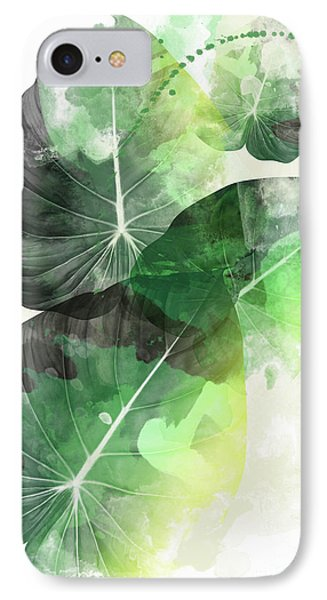 Green Tropical IPhone Case by Mark Ashkenazi