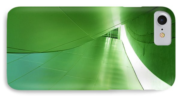 IPhone Case featuring the photograph Green Tunnel. Los Angeles Series. by Ausra Huntington nee Paulauskaite