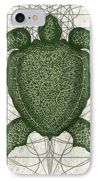 Green Turtle Phone Case by Charles Harden