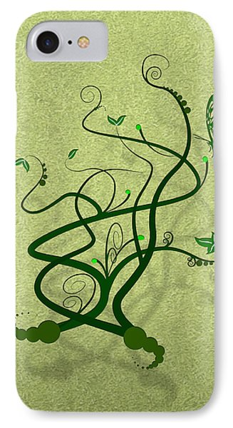 Green Vine And Butterfly Phone Case by Svetlana Sewell