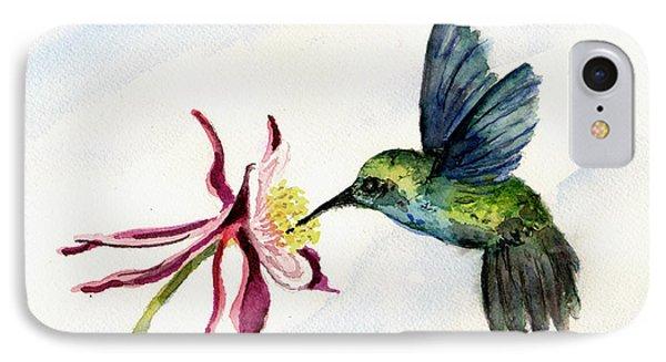 Green Violet-ear Hummingbird IPhone Case by Sam Sidders