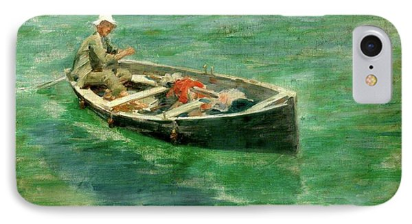 IPhone Case featuring the painting Green Waters by Henry Scott Tuke