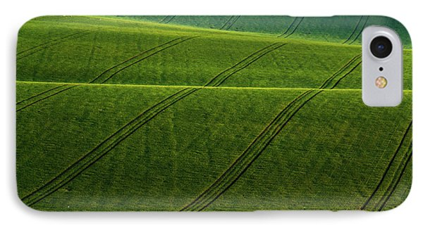 IPhone Case featuring the photograph Green Waves Of Rolling Hills by Jenny Rainbow